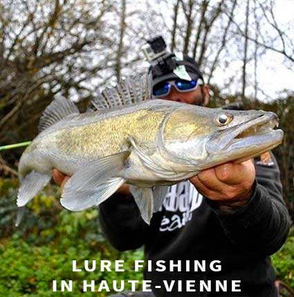 Lure fishing in Haute-Vienne
