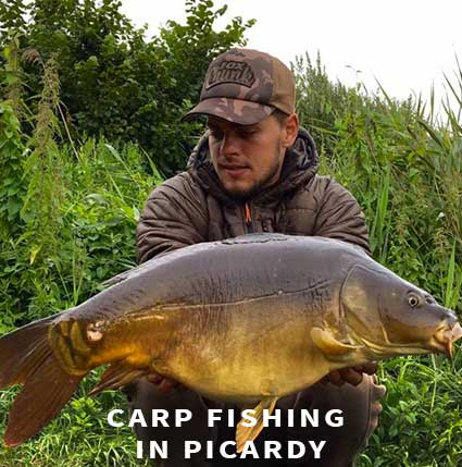 Carp fishing in France in Picardy