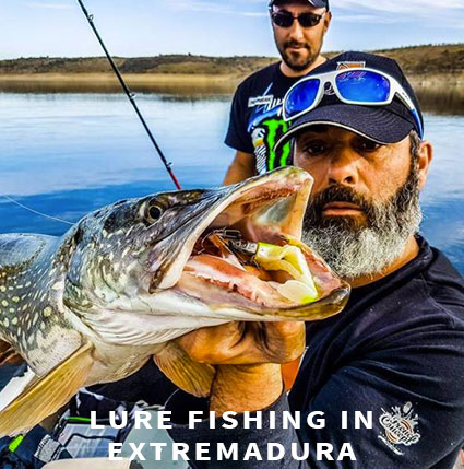 Lure fishing in Extremadura