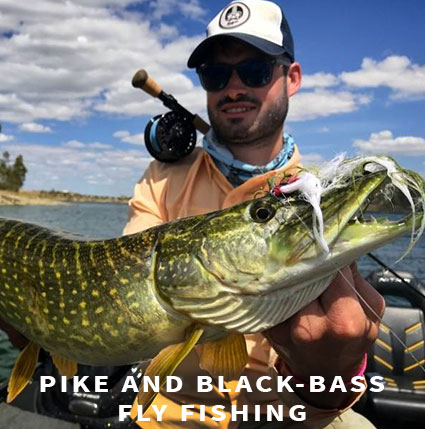 Pike and black-bass fly fishing in Extremadura