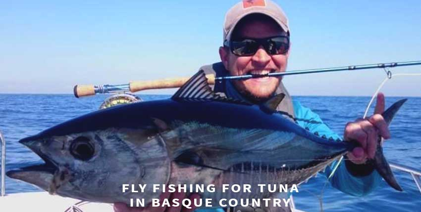 Fly fishing for tuna in Basque Country