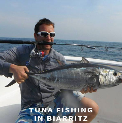 Lure fishing Tuna fishing in Biarritz
