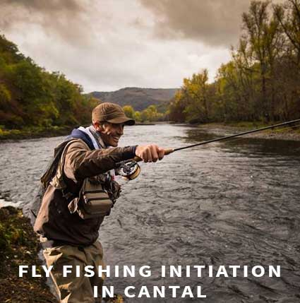 Fly fishing initiation in Cantal