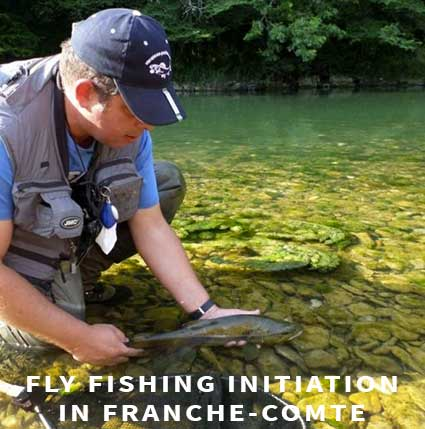 Fly fishing initiation in Franche-Comté