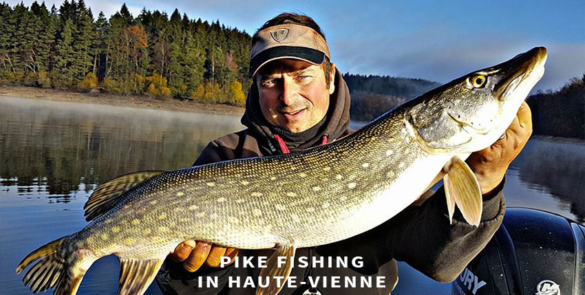 Pike fishing in Haute-Vienne