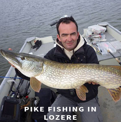 Lure fishing Pike fishing in Lozere
