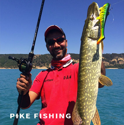 Pike fishing in France