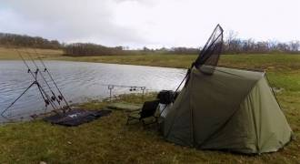 Catfish and carp fishing camp