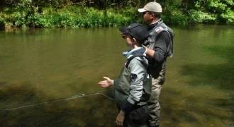 Fly fishing initiation in Puy-de-Dôme