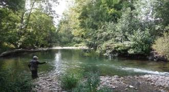 Nymph fishing initiation in Puy-de-Dôme