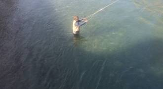 Fly fishing initiation in Hautes-Pyrenes
