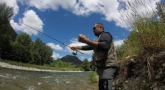Trout fishing with baits in Aveyron