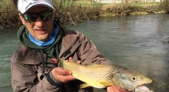 Trout fishing with lures in Marne