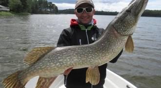 Pêche du brochet en Suède sur le Mälaren