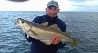 Pêche en mer dans la baie de Morlaix