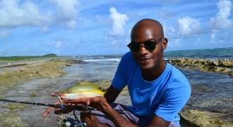 Fishing in Guadeloupe from the shore