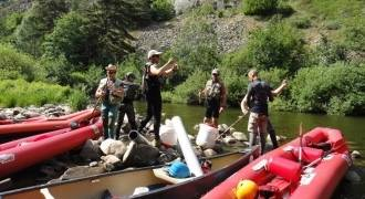 Séjour de pêche trappeur en canoë sur le haut Allier