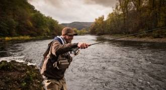 Fly fishing initiation and improvement in Cantal