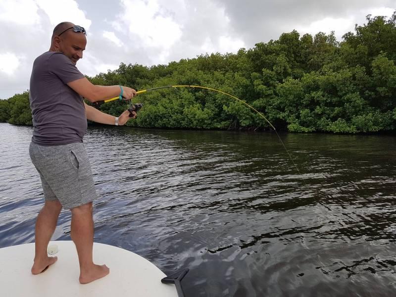 Découverte de la pêche en Guadeloupe dans la mangrove