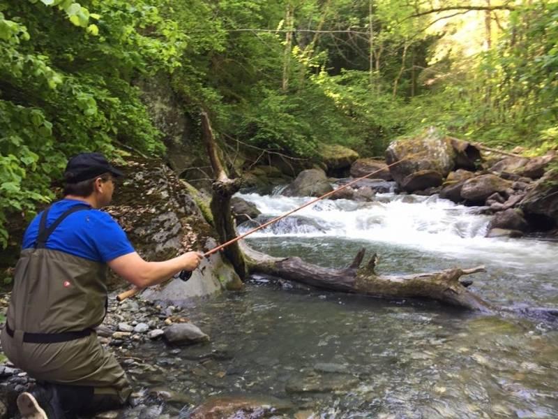 Initiation à la pêche au toc en Savoie