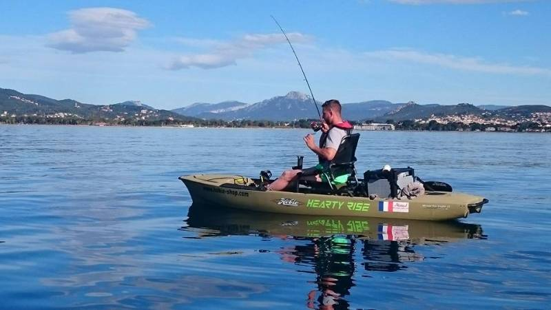 Journée de pêche en mer en kayak