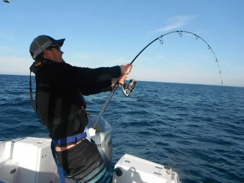 Bluefin tuna fishing in Atlantic with lure