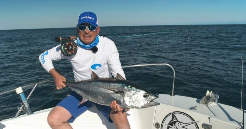 Bluefin tuna fishing on fly