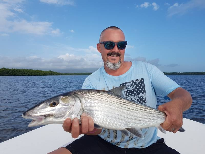 Pêche à la mouche en bateau en Guadeloupe