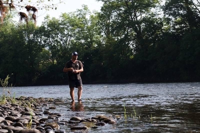 Rando-Pêche de la truite aux leurres sur la Dordogne