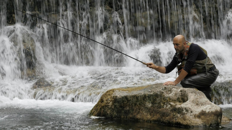 Tenkara fishing in Aveyron