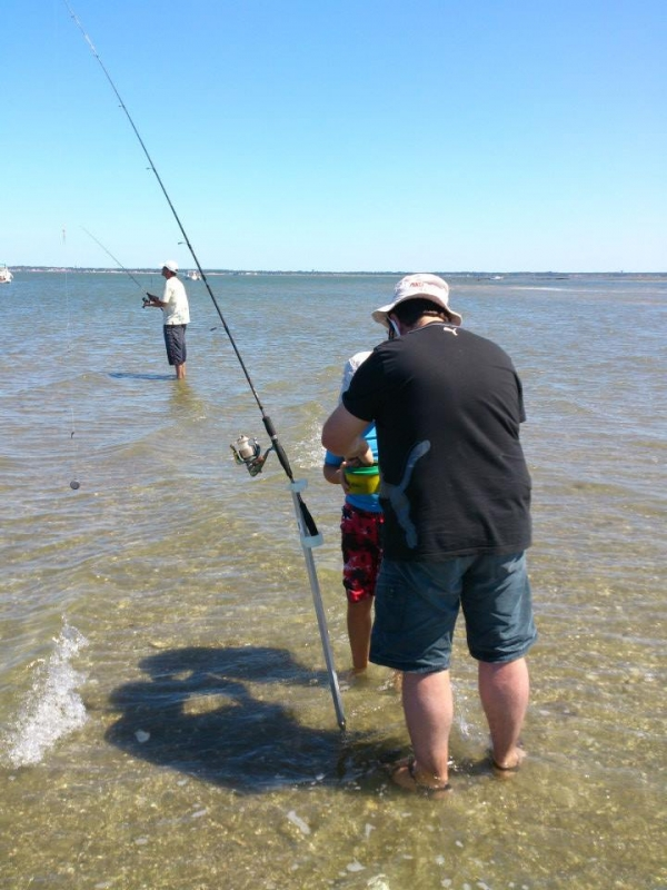 Shore fishing in Arcachon