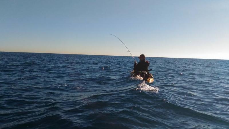 Pêche en kayak entre Cannes et Antibes